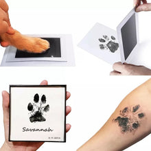 Load image into Gallery viewer, 0-6 months old newborn pet dog is safe, non-toxic, non-skin contact, ink-free stamp pad set paw print souvenir