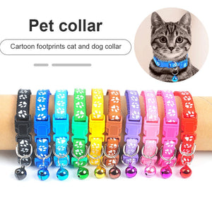 New cartoon funny footprint collar cute cat bell collar cat accessories animal supplies