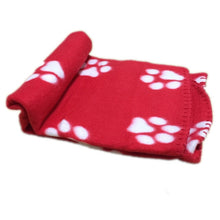 Load image into Gallery viewer, Cute winter warm wool pet dog cat mattress blanket paw print design pet crib pet sofa product cushion cover