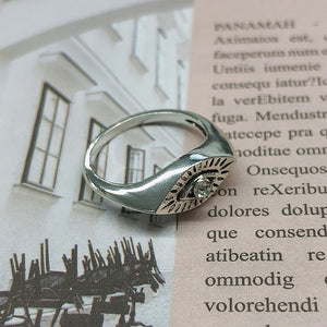 Ladies Stainless Steel Sun Face Beauty Ring Punk Ring Fashion Retro Exaggerated Gothic Jewelry