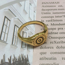 Load image into Gallery viewer, Ladies Stainless Steel Sun Face Beauty Ring Punk Ring Fashion Retro Exaggerated Gothic Jewelry