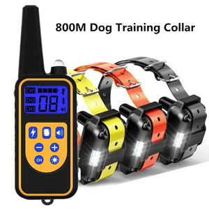 Waterproof and rechargeable dog training collar pet remote control, with LCD display, can display all sizes of vibration sound