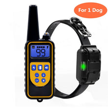 Load image into Gallery viewer, Waterproof and rechargeable dog training collar pet remote control, with LCD display, can display all sizes of vibration sound