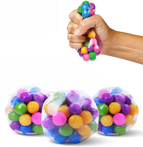 1 / 3pcs stress relief color ball emotional squeeze relief ball health toy funny little toy