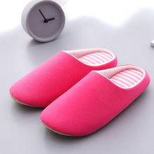 Load image into Gallery viewer, Winter ladies home cartoon cat non-slip soft slippers winter warm house slippers