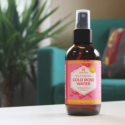 24K Gold Rose Water Toner - 4 oz