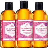 Oil Cleansing Face Wash by Leven Rose 100% Natural Oil Facial Cleanser for Acne, Anti-Aging, Dry Skin, Pore Shrinking, Ace Face Wash for Oily Skin, Gentle Face Cleanser 8 oz