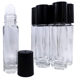 Glass Roll On Bottles - Pack of 6