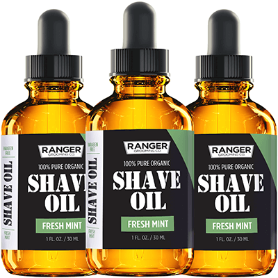Shave Oil - Fresh Mint Scent - 1 oz