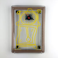"EVA WALL CLOCK / TRANSPARENT 07 / ""Pendulum Clock"" / Yellow Vinyl"