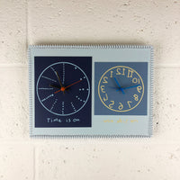 """Time is on my side now"" double wall clock (2nd generation #003)"