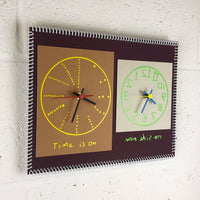 """Time is on my side now"" double wall clock (2nd generation #002)"