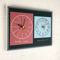 """Time is on my side now"" double wall clock (2nd generation #004)"