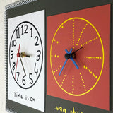 """Time is on my side now"" double wall clock (2nd generation #009)"