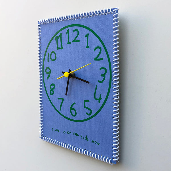 """Time is on my side now"" wall clock (numbers #2)"