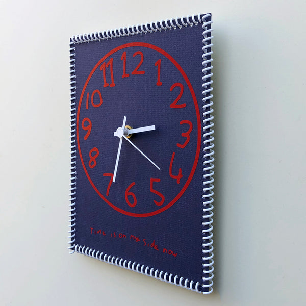 """Time is on my side now"" wall clock (numbers #4)"