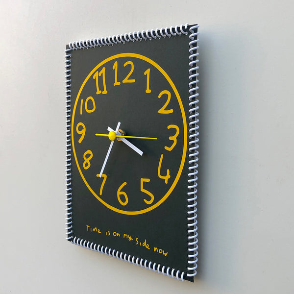 """Time is on my side now"" wall clock (numbers #5)"