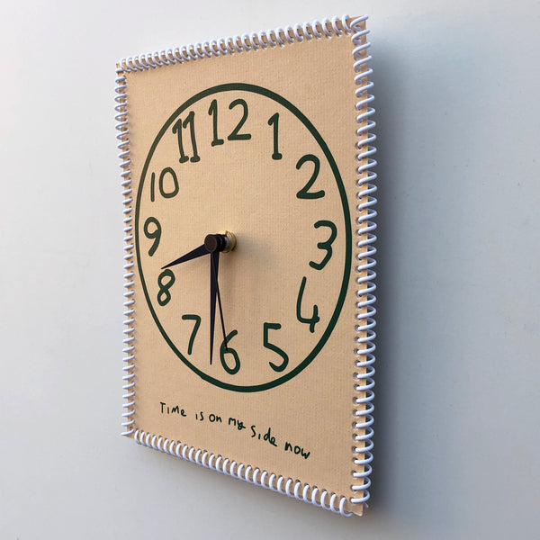 """Time is on my side now"" wall clock (numbers #7)"
