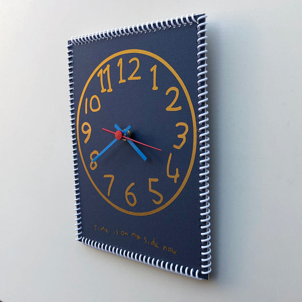 """Time is on my side now"" wall clock (numbers #9)"