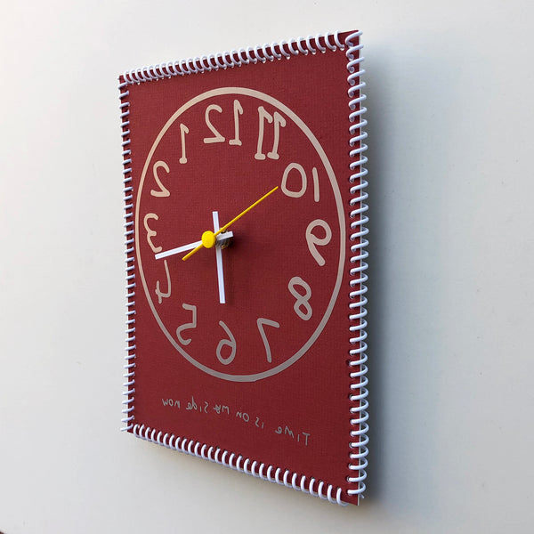 """Time is on my side now"" wall clock (numbers reverse)"