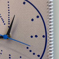 "Time is on my side now"" wall clock (dots #9)"