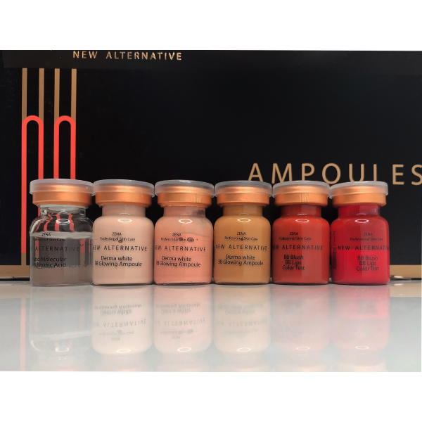 Zena Contouring mix bb glow color set + bb blush and bb lips tint Full contouring set 10 ampoules /1 box