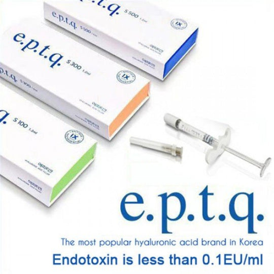 e.p.t.q. Cross-Linked Hyaluronic Acid Dermal Filler S100, S300, S500 / 1pcs S.Korea