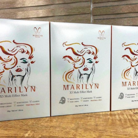 Marilyn Multi Effect mask 5 in 1 Skin Repair, Moisturing and Firming 10 pcs/box
