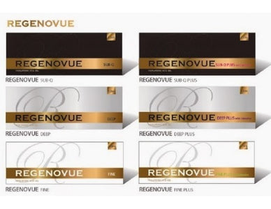 Regenovue with lidocaine Fine+/Deep+/Sub-Q+ High Quality Hyaluronic Acid  MESOTHERAPY Dermal  Korea