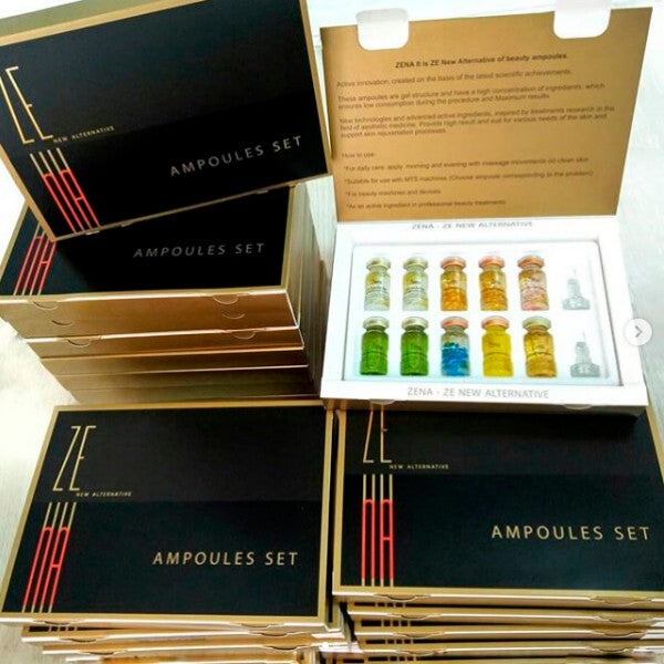 ZENA Ampoules mix set Custom Zena Packing - 10 pcs