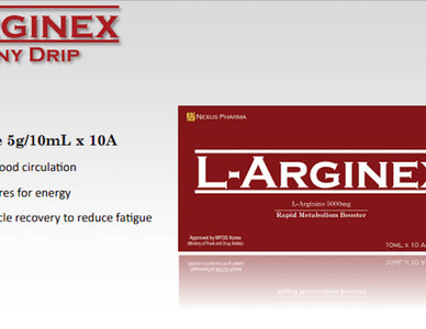 L-Arginex 5000mg 10MLx10 ampoules