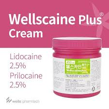 Anesthetic Cream Wellscaine numb cream with lidocaine & prilocaine 450g
