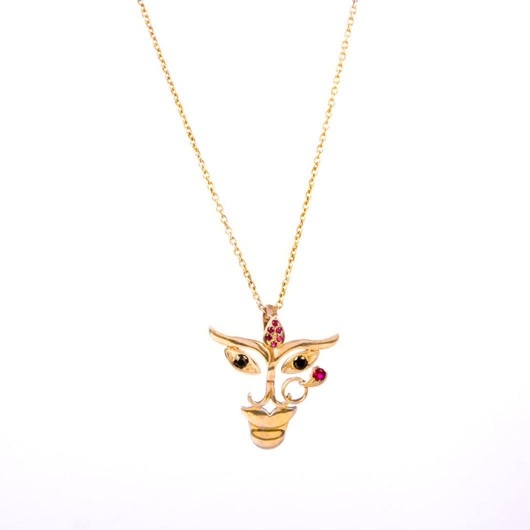 Durga Pendant (Gold-Plated Small)