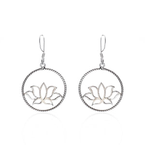 Lotus In A Circle Earrings