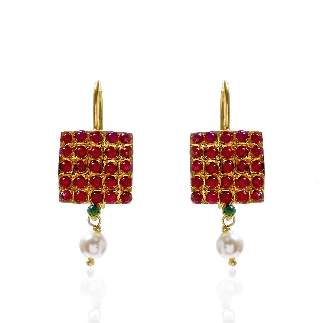 Chettinad Square Earrings
