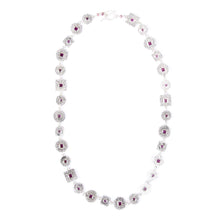 Load image into Gallery viewer, Beaten Coin Modern Kasai Mala Ruby Necklace