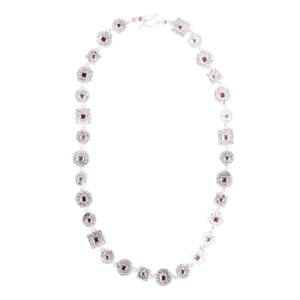 Beaten Coin Modern Kasai Mala Ruby Necklace