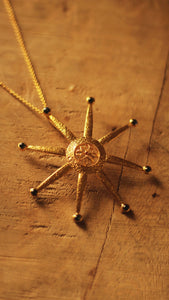 Sun Necklace- Gold Plated