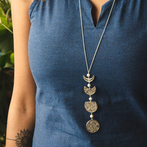 Single Lariat Phases Of The Moon Necklace