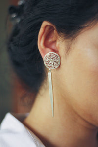 Fulll Moon Filigree Warrior Earrings