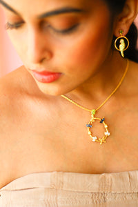 Kamadeva Five Flowers Pendant (Gold-plated With Chain)