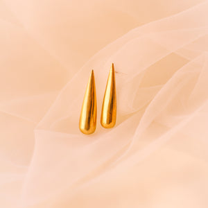 Flame Earrings- Gold plated (Small)