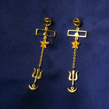 Load image into Gallery viewer, Masculine Feminine Balance Tantra Earrings (Gold-plated)