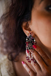 Chand Moon Bali Cluster Earring