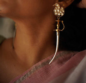 Saraswati Durga Warrior Earrings