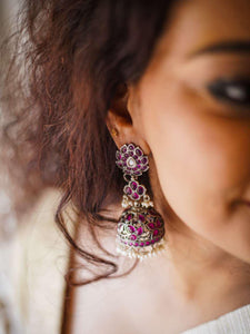 Red Jhumki in Layers
