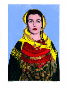 Genuine Painting. Lady in Salamina.