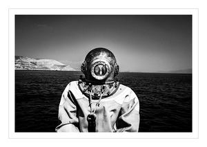 Diver in Kalymnos, Dodecanese, Greece
