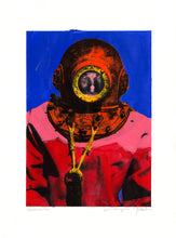 Load image into Gallery viewer, Genuine Painting. Diver in Kalymnos #4.