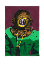 Load image into Gallery viewer, Genuine painting. Diver in Kalymnos.